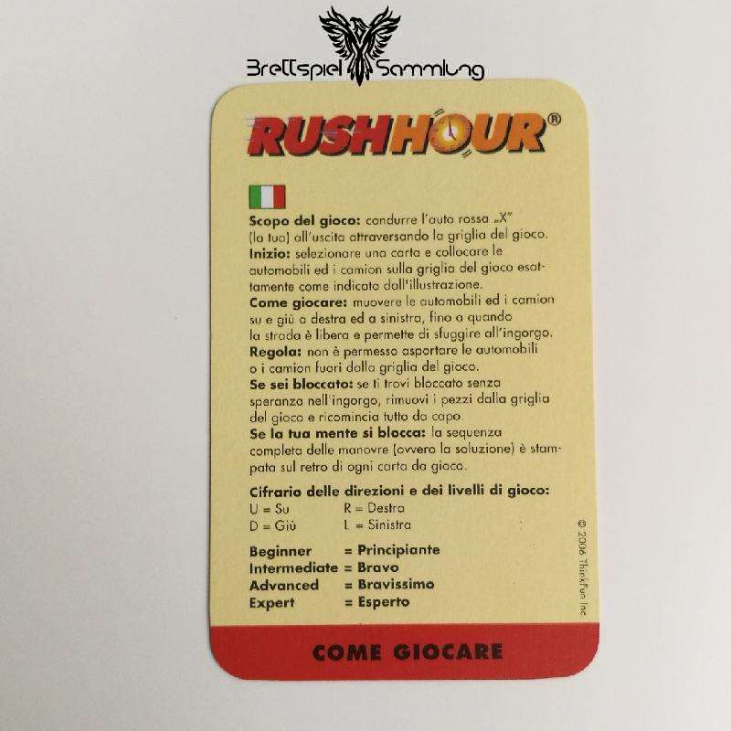 Rushhour Spielanleitung It / Fr