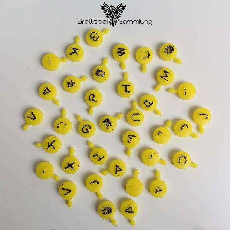 Buchstabensuppe Gelbe Buchstaben