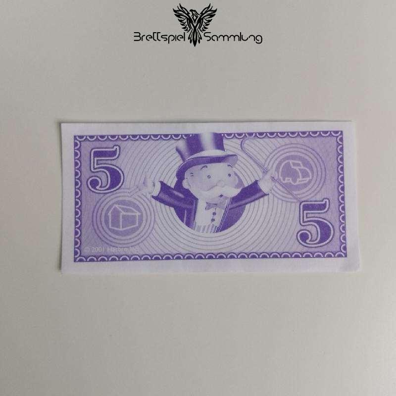 Monopoly Junior Spielgeld 5 Euro