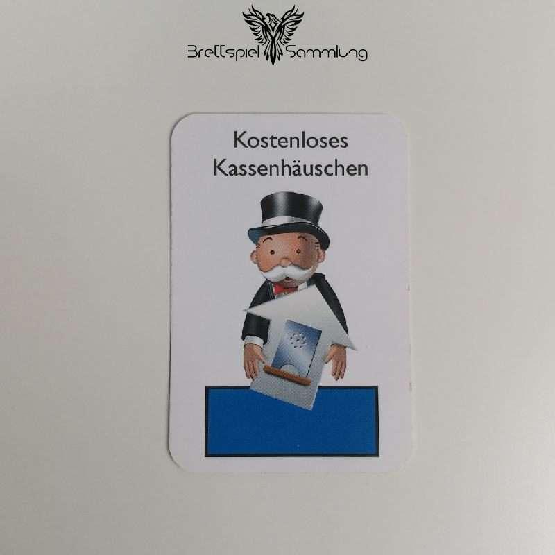 Monopoly Junior Ereigniskarte Kassenhäuschen Blau