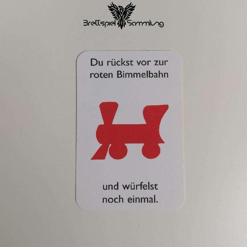 Monopoly Junior Ereigniskarte Bimmelbahn Rot