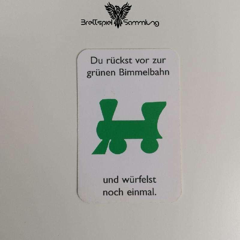 Monopoly Junior Ereigniskarte Bimmelbahn Grün