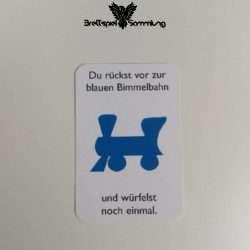 Monopoly Junior Ereigniskarte Bimmelbahn Blau