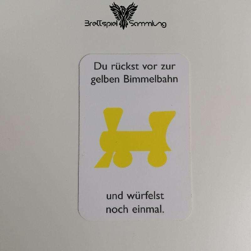 Monopoly Junior Ereigniskarte Bimmelbahn Gelb