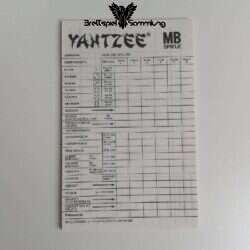 Yahtzee Blätter Zählblock