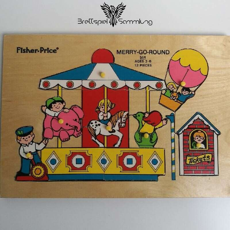 Fisher Price Merry Go Round Holzpuzzle