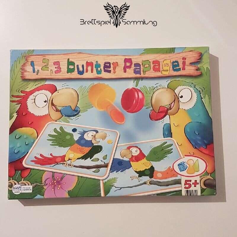 1 2 3 Bunter Papagei