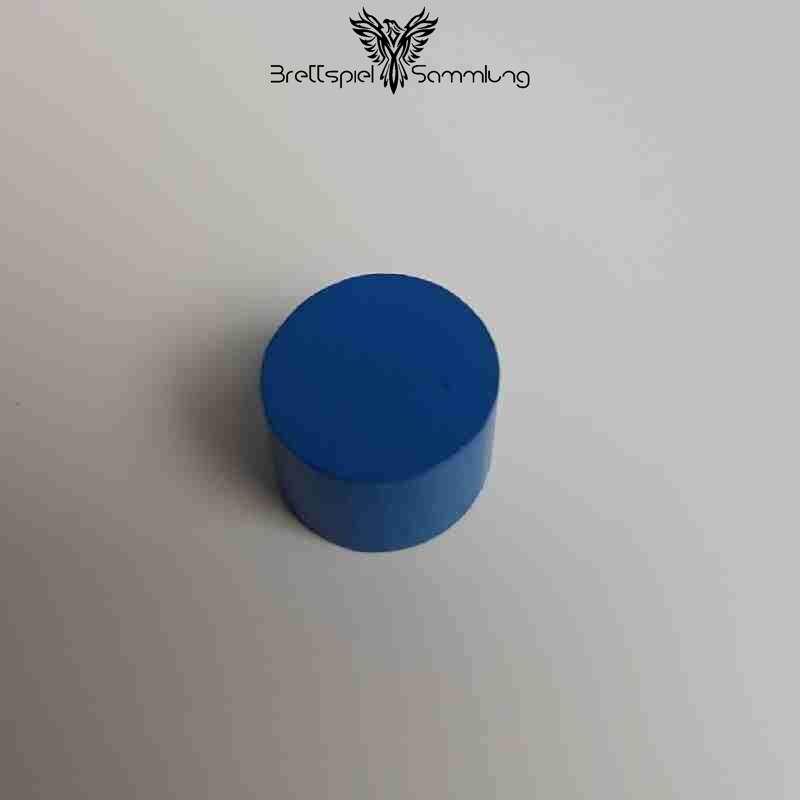 Kunterbunt Holzstein Blau