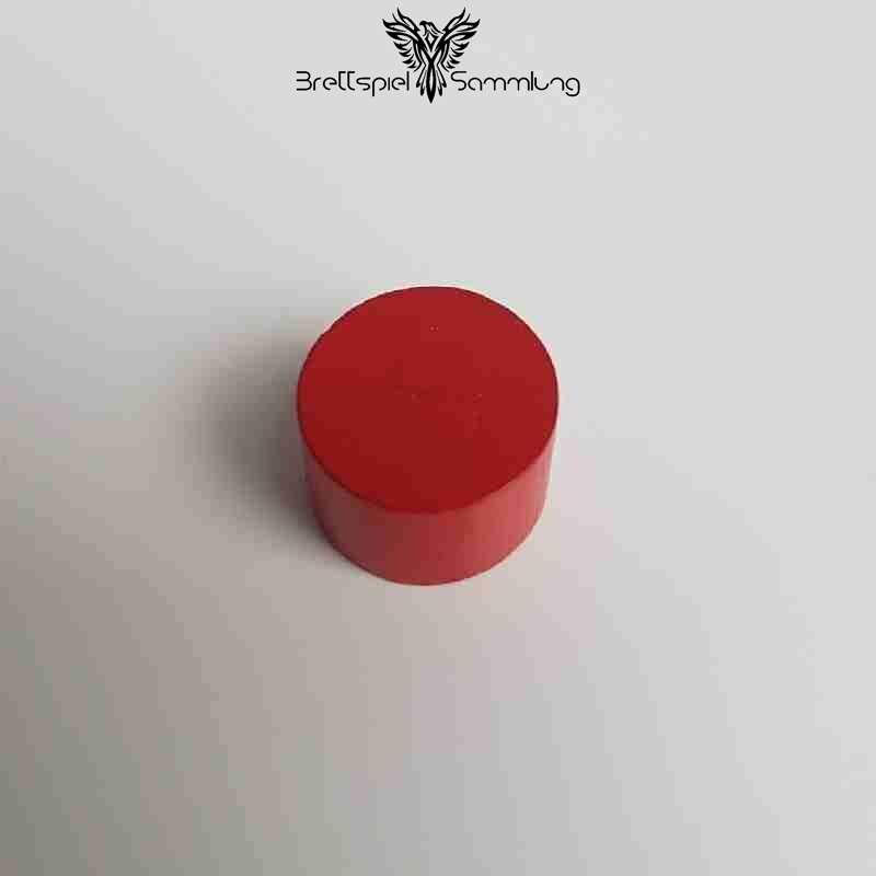Kunterbunt Holzstein Rot