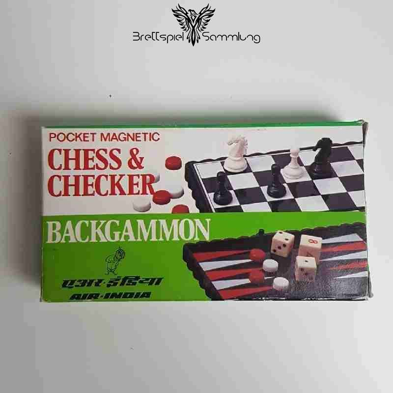 Pocket Magnetic Chess And Checker