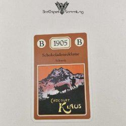 Adel Verpflichtet Sammelkarte B 1905 Schokoladenreklame Schweiz