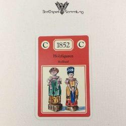 Adel Verpflichtet Sammelkarte C 1852 Holzfiguren Rußland