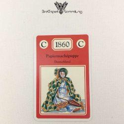 Adel Verpflichtet Sammelkarte C 1860 Papiermachepuppe Deutschland