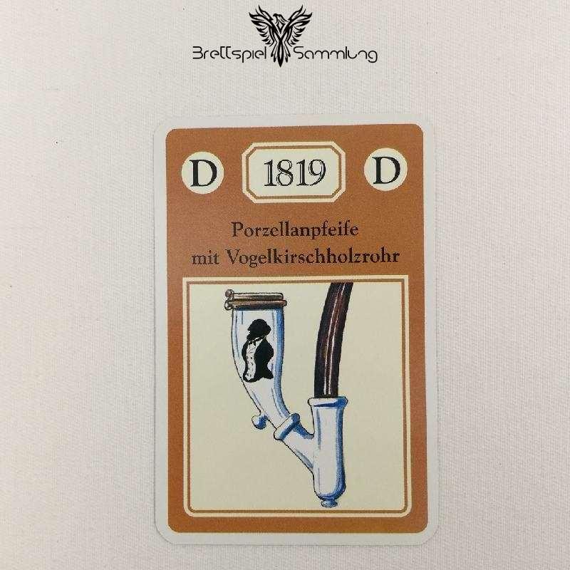 Adel Verpflichtet Sammelkarte D 1819 Porzellanpfeife Mit Vogelkirschholzrohr