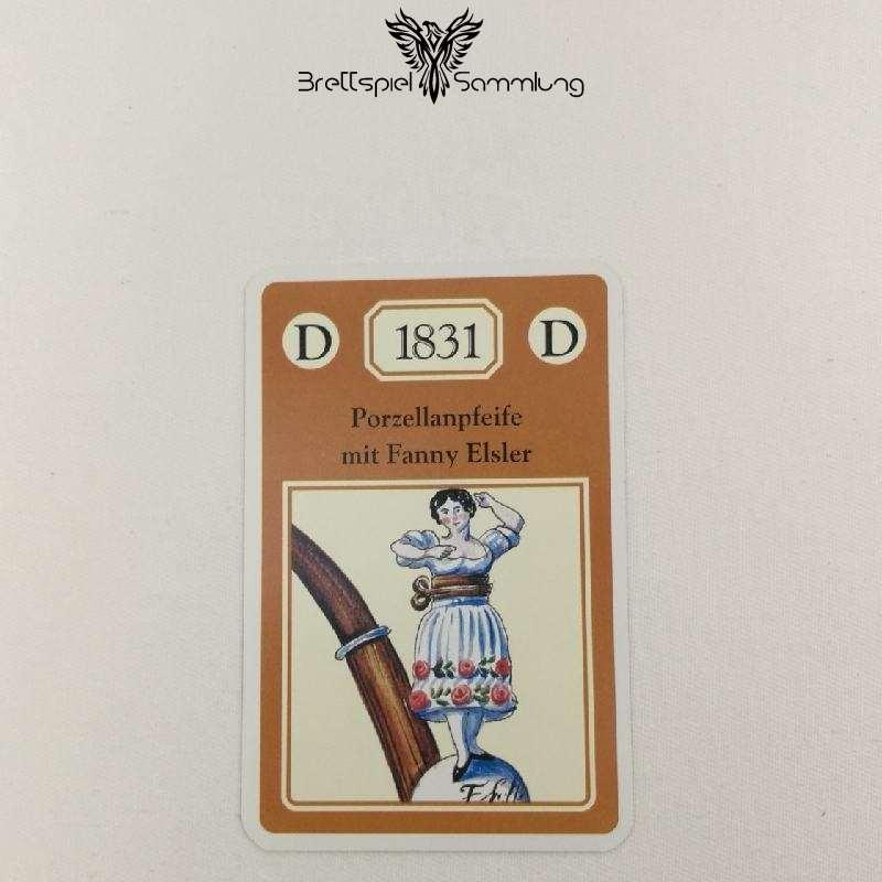 Adel Verpflichtet Sammelkarte D 1831 Porzellanpfeife Mit Fanny Elsler