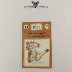 Adel Verpflichtet Sammelkarte D 1865 Meerschaumpfeife Mit Bernsteinrohr