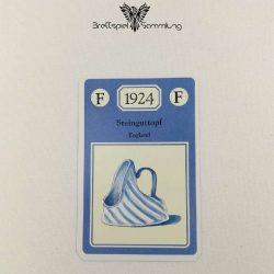 Adel Verpflichtet Sammelkarte F 1924 Steinguttopf England