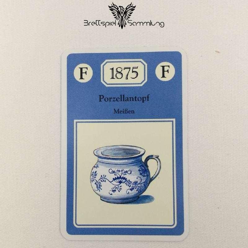 Adel Verpflichtet Sammelkarte F 1875 Porzellantopf Meißen