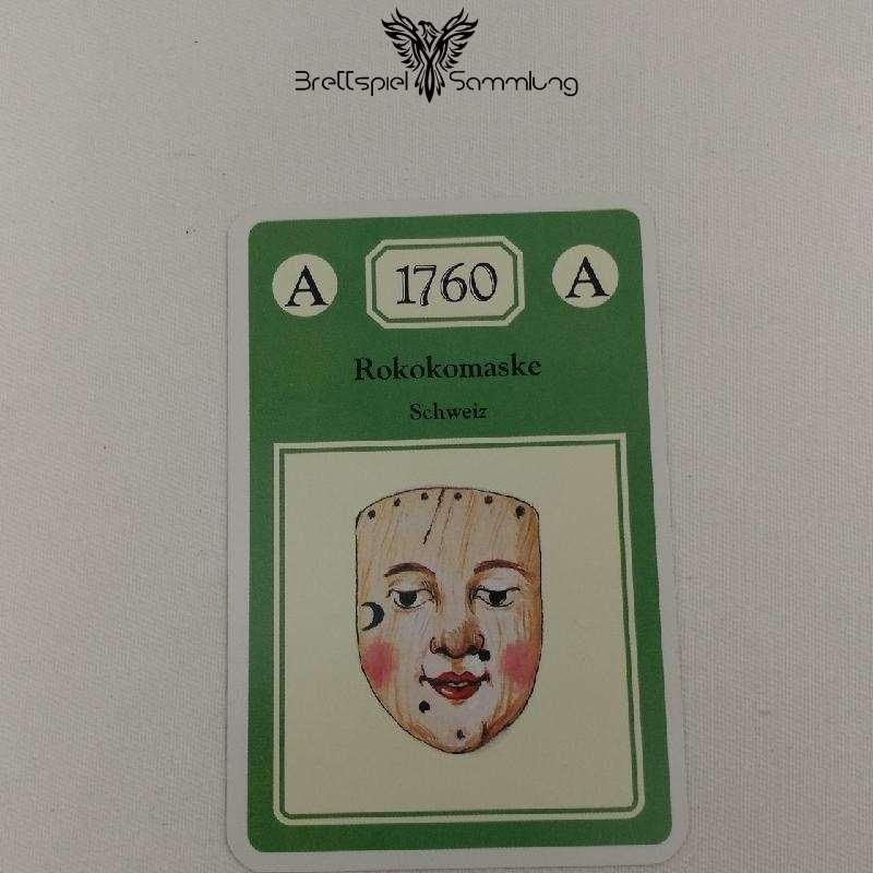 Adel Verpflichtet Sammelkarte A 1760 Rokokomaske Schweiz