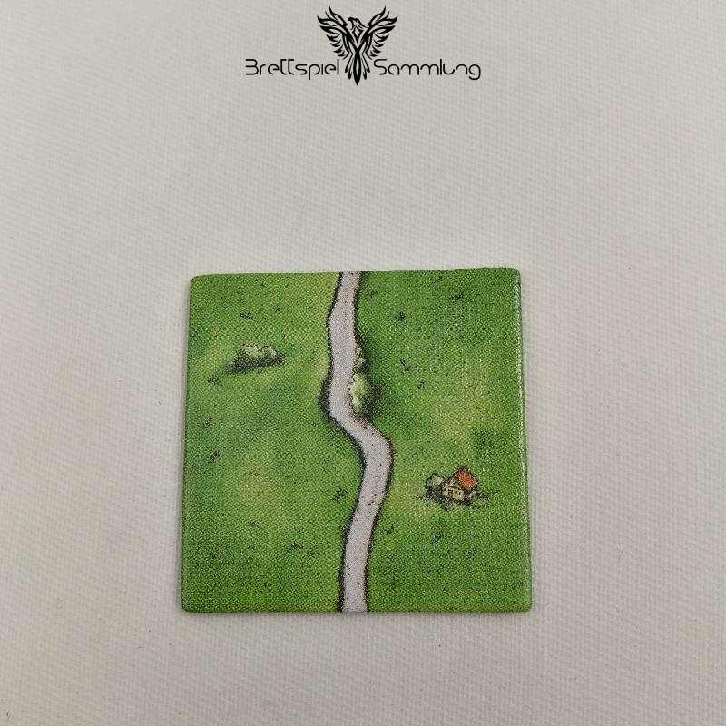 Carcassonne Landschaftskarte Straße Kurve #1