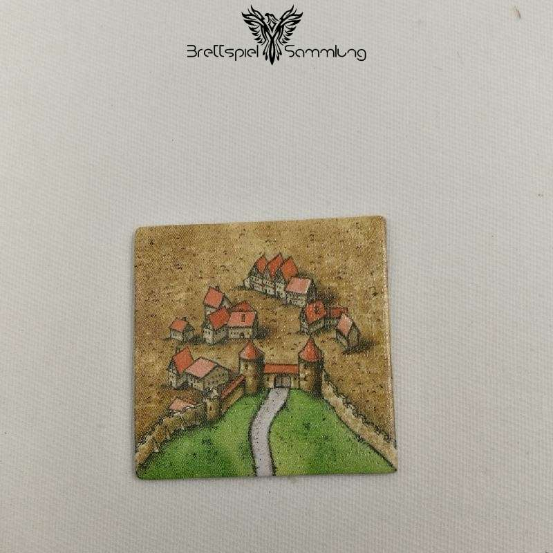 Carcassonne Landschaftskarte Stadtteil Mit Straße #1