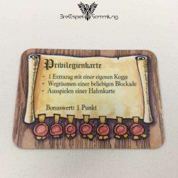 Die Hanse Spielkarte Privilegienkarte