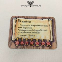 Die Hanse Spielkarte Kaperbrief