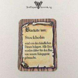 Die Hanse Spielkarte Blockade Von Stockholm