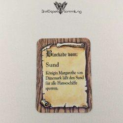 Die Hanse Spielkarte Blockade Vom Sund