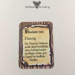 Die Hanse Spielkarte Blockade Von Danzig