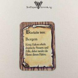 Die Hanse Spielkarte Blockade Von Bergen