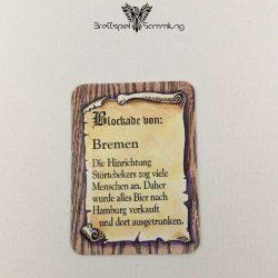 Die Hanse Spielkarte Blockade Von Bremen
