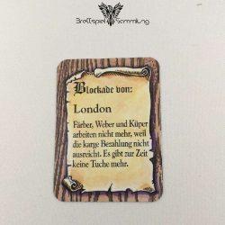 Die Hanse Spielkarte Blockade Von London