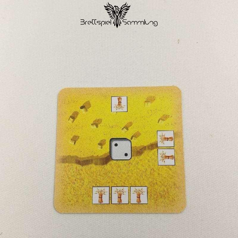 Die Siedler Von Catan Das Kartenspiel Startkarte Landschaft Getreide Schwarz