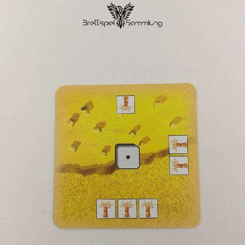 Die Siedler Von Catan Das Kartenspiel Startkarte Landschaft Getreide Rot