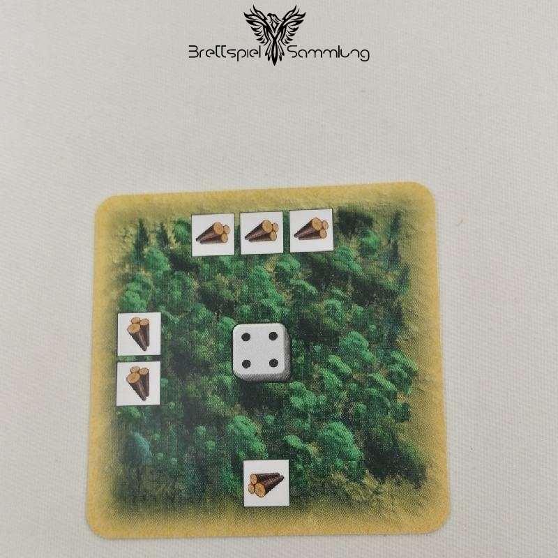 Die Siedler Von Catan Das Kartenspiel Startkarte Landschaft Wald Rot