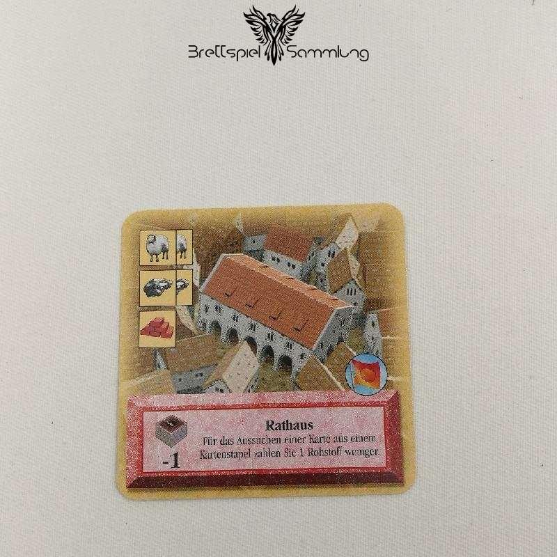 Die Siedler Von Catan Das Kartenspiel Spielkarte Rathaus
