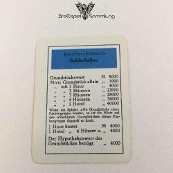 Monopoly Silber Edition Besitzrechtkarte Schloßallee