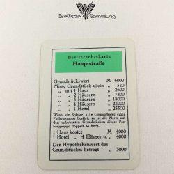 Monopoly Silber Edition Besitzrechtkarte Hauptstraße