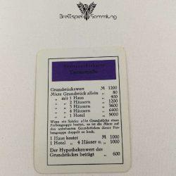Monopoly Silber Edition Besitzrechtkarte Turmstraße