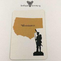 Risiko Spielkarte Länderkarte Weststaaten