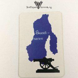Risiko Spielkarte Länderkarte Skandinavien